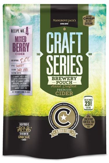 Picture of Mangrove Jacks Mixed Berry Cider pouch 2.4 kg