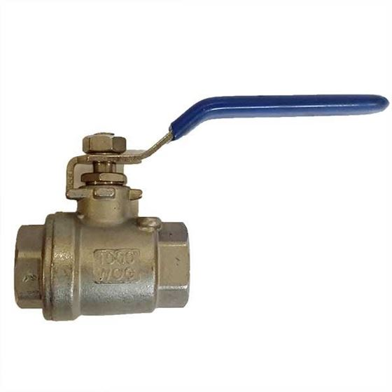 "Picture of 1/2"" Stainless steel 2 piece balll valve only"