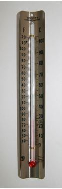 Picture of Glass Thermometer with Metal Holder