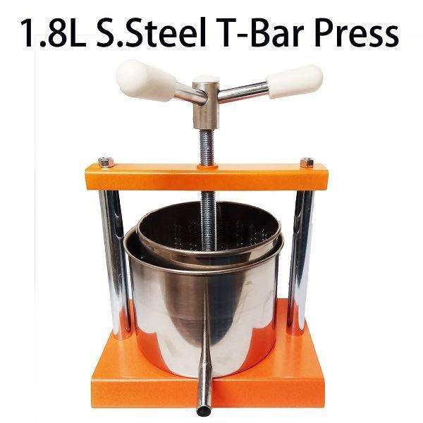 Brewers choice 1 8l wine cheese cider press for Home wine press