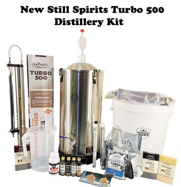 Picture of New Still Spirits Turbo 500 Stainless Steel Distillery Kit  Ultimate Filter