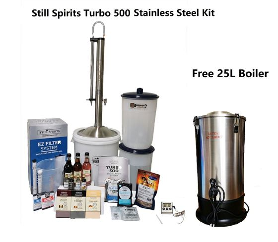 Picture of Still Spirits Turbo 500 Complete Stainless Steel Distillery Kit Free Boiler