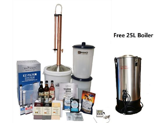 Picture of Still Spirits Turbo 500 Complete Copper Distillery Kit Free Turbo Boiler