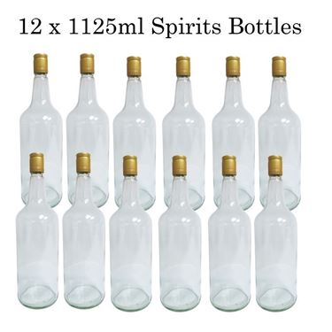 Picture of 12x1125ML Clear Spirits Bottles