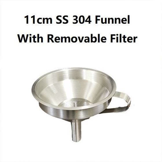 Picture of Stainless steel Funnel 11cm with filter