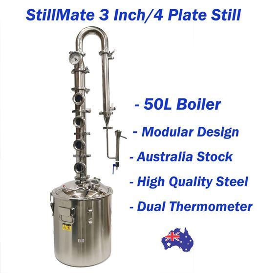 "Picture of 50L SS 3"" x 4 Plate Modular Neutral Spirits Still"