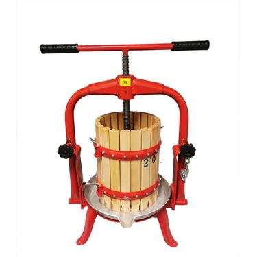 Picture of Italy Made 10L Wooden Bucket Fruit Press with T Handle