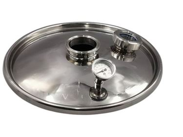 """Picture of Heavy-duty Stainless Steel Lid for 65L Digi boiler with 3"""" fitting"""