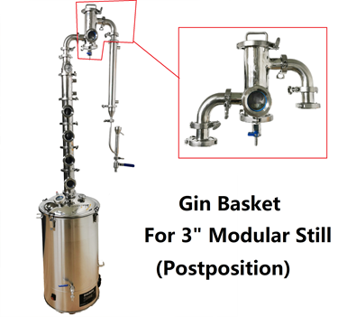 "Picture of PostPosition 3"" Gin Basket for Modular Still"
