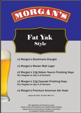 Picture of Morgans Recipe Kit - Fat Yak Pale Ale