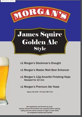 Picture of Morgans Recipe Kit - James Squire Golden Ale