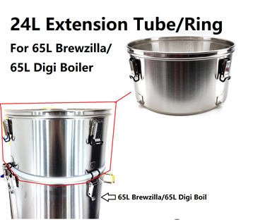 Picture of 24L Extension Tube/Ring Kit for 65L Digiboil/Brewzilla