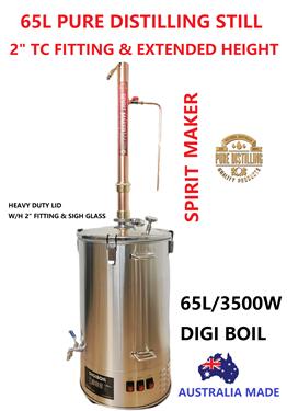 """Picture of 65L Pure Distilling  2"""" Modular Tri-Clover Copper Reflux Still"""