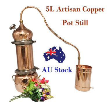 Picture of HandCraft 5L Artisan Style  Copper Pot Still