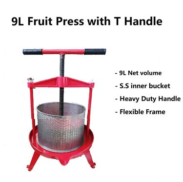 Picture of 9L Fruit Press with T Handle & wooden bucket